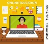 training  education  online... | Shutterstock .eps vector #500750209