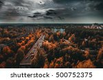 chernobyl exclusion zone. ruins ... | Shutterstock . vector #500752375