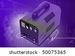 digital illustration of battery ... | Shutterstock . vector #50075365