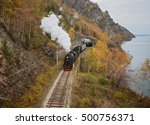 Old Steam Locomotive In The...