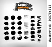 vector set hand drawn strips... | Shutterstock .eps vector #500756515