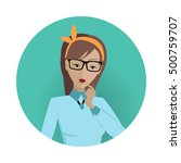 userpic of a business lady.... | Shutterstock .eps vector #500759707