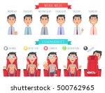 man during work week. male face ... | Shutterstock .eps vector #500762965