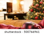 christmas interior with empty... | Shutterstock . vector #500766961
