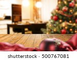 christmas interior with empty... | Shutterstock . vector #500767081