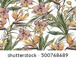 beautiful seamless vector... | Shutterstock .eps vector #500768689