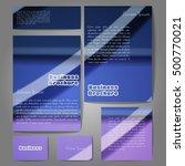 corporate identity template set.... | Shutterstock .eps vector #500770021