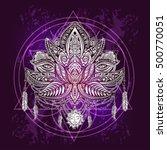 hand drawn ornate vector... | Shutterstock .eps vector #500770051