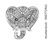 vector hand draw of elephant... | Shutterstock .eps vector #500772961