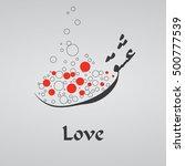 love  written in traditional...   Shutterstock .eps vector #500777539