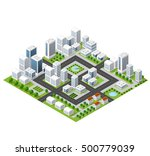 flat isometric 3d map ... | Shutterstock . vector #500779039