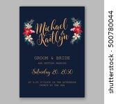wedding invitation card... | Shutterstock .eps vector #500780044