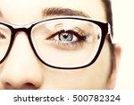 beautiful young woman wearing... | Shutterstock . vector #500782324