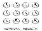 months stickers set  | Shutterstock .eps vector #500786341