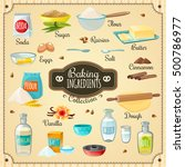 cooking icons various baking... | Shutterstock .eps vector #500786977