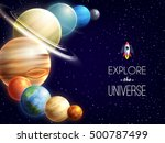 solar system realistic... | Shutterstock .eps vector #500787499