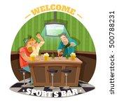soccer pub flat vector... | Shutterstock .eps vector #500788231