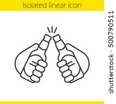 toasting linear icon. thin line ...   Shutterstock .eps vector #500790511