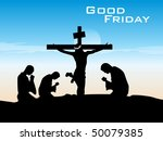 good friday background with...   Shutterstock .eps vector #50079385