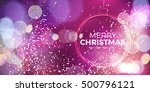 christmas ball. abstract... | Shutterstock .eps vector #500796121
