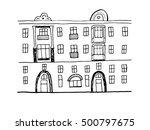 modern house  city view | Shutterstock .eps vector #500797675