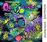 abstract seamless comics... | Shutterstock . vector #500799355