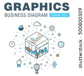 business graphics of modern... | Shutterstock .eps vector #500800309