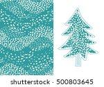 fir tree and winter seamless...
