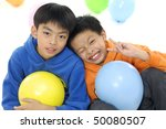 close up two children with... | Shutterstock . vector #50080507
