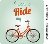 retro illustration bicycle i... | Shutterstock .eps vector #500813875