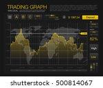 trade market binary option. set ... | Shutterstock .eps vector #500814067