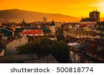 sofia bulgaria on a sunset ... | Shutterstock . vector #500818774