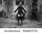 beautiful autumn girl | Shutterstock . vector #500823751