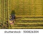 harvester machine to harvest... | Shutterstock . vector #500826304