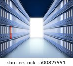 much folders in archive. vector ... | Shutterstock .eps vector #500829991