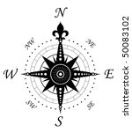 vintage compass symbol isolated ... | Shutterstock . vector #50083102
