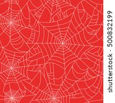 halloween spider web seamless... | Shutterstock .eps vector #500832199