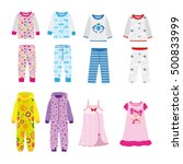 set sleepwear for boys and... | Shutterstock .eps vector #500833999