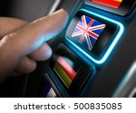finger about to press an... | Shutterstock . vector #500835085