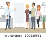 elegant businessman doing a... | Shutterstock .eps vector #500835991