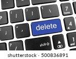 flat black modern keyboard of a ... | Shutterstock . vector #500836891