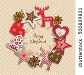 christmas background  small... | Shutterstock .eps vector #500839831
