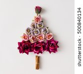 Christmas Tree Made Of Flowers...