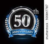 50th silver anniversary logo... | Shutterstock .eps vector #500847787