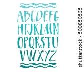 handwritten calligraphy... | Shutterstock .eps vector #500850535