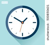 clock icon in flat style  timer ... | Shutterstock .eps vector #500850601