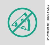 prohibited pizza icon. gray... | Shutterstock .eps vector #500854219