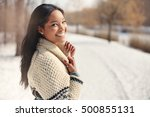 beautiful young woman in the... | Shutterstock . vector #500855131