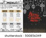 christmas restaurant brochure ... | Shutterstock .eps vector #500856349