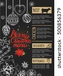 christmas restaurant brochure ... | Shutterstock .eps vector #500856379